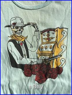 1970s Vintage Grateful Dead Las Vegas Gambler Womens T Shirt Vtg RARE