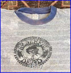 1972 Grateful Dead Crew Shirt Washington DC Baltimore garcia 1970s 70s