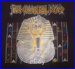 1978 GRATEFUL DEAD VINTAGE SHIRT Egypt Concert 2 Sided 1970's MEMORYLEN