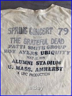 1979 XL Grateful Dead Spring Concert 79 T Shirt Bertha Patti Smith Amherst Lot