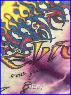 1980s Vintage Grateful Dead Artists MIKIO/PHILLIP BROWN Shirt XL TYE DYE RARE