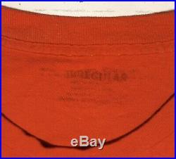 1987 Grateful Dead BOB DYLAN Summer Tour T-Shirt Size XL Or 2XL Tie Dye Vtg Red