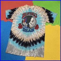1990 Grateful Dead Buffalo Dead Tour Shirt Tie Dye Single Stitch Liquid Blue L