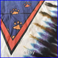 1991 Jerry Garcia Band tie dye shirt Grateful Dead XL Liquid Blue