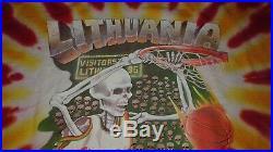 1992 LIQUID BLUE Grateful Dead Shirt Large Lithuania Basketball 1992 Tie Dye