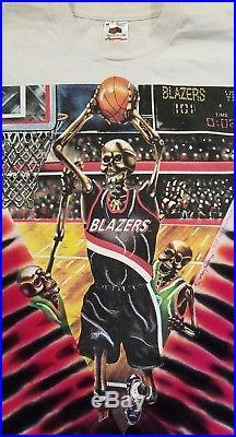 1993 Portland Trail Blazers Vintage grateful dead t shirt