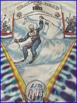 1994/95 Vintage Grateful Dead US Ski Team Shirt. Extra Large. Long Sleeves