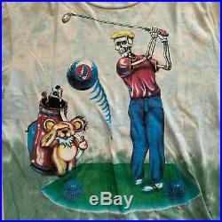 1994 Grateful Dead Golf Liquid Blue Tie Dye t Shirt vintage 90s vtg