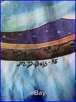 1995 Vintage Mike DuBois Grateful Dead Dolphins Space Blue Tie-Dye Tee Delta XL