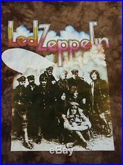 90s XL Vintage Led Zeppelin II Lp Tie Dye Shirt rock rap music tour robert plant