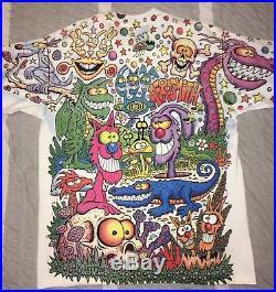 Aerosmith Get a Grip Tour T-Shirt 90's Joey Mars Vintage XL Grateful Dead