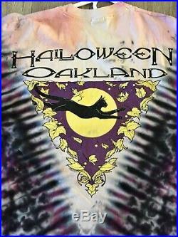 Authentic Vintage GRATEFUL DEAD Halloween Tye Dye T Shirt Oakland 1991 Size XL