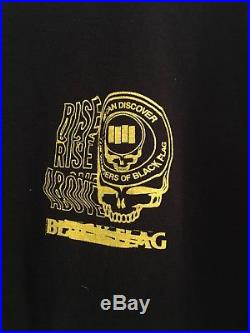 DES Wonders Of Black Flag WOBF Long Sleeve Shirt Grateful Dead Bootleg Large