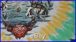 EVintage (L) LIQUID BLUE GRATEFUL DEAD TERRAPIN STATION 90S TRU VINTAGE T-SHIRT