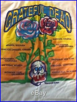 EXC Vintage Grateful Dead Shirt 1992 Spring Rock Jerry Garcia Reonegro Size XL