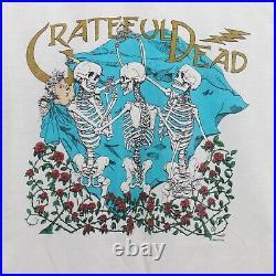 GRATEFUL DEAD 1994 Original XL Crew T SHIRT Skeleton Angel Roses Thorns