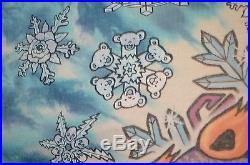 GRATEFUL DEAD 1994 Snowboard Bear Vail David Opie TIE DYE BAND VTG 90s L T-SHIRT