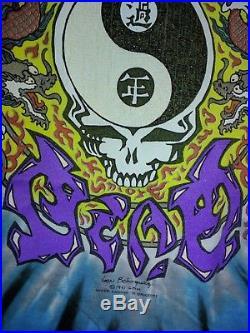 GRATEFUL DEAD Chinese NEW YEAR 91 TOUR T-SHIRT OAKLAND Coliseum GDM Brockum