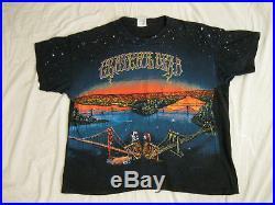 GRATEFUL DEAD Golden Gate Bay Bridges RARE VINTAGE 1990 90s T Shirt EX