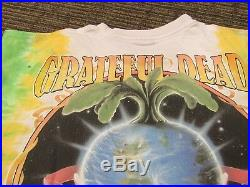 GRATEFUL DEAD KEEP IT GREEN VINTAGE 1998 TIE DYE-LIQUID BLUE T-SHIRT 2X XXL 90s
