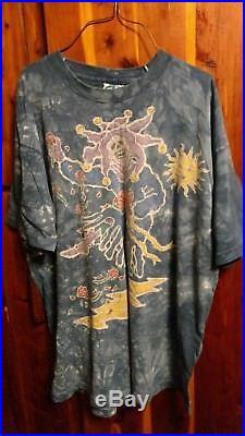 GRATEFUL DEAD Liquid Blue JESTER tye dye T-shirt. XL