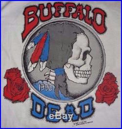 GRATEFUL DEAD T-SHIRT BUFFALO DEAD CSN Concert 91 MED USA NOS 90'S JERRY GARCIA