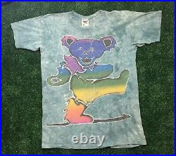 GRATEFUL DEAD VINTAGE 1995 Single Stitched Tenesse River Gold Tag Band Tees