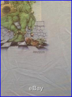 GRATEFUL DEAD VINTAGE SHIRT 1973 Jester Kelley Mouse Wake Of The Flood LP 1970s
