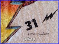 GRATEFUL DEAD VINTAGE SHIRT 1982 New Years Concert Kelly Mouse 1980s MEMORYLEN
