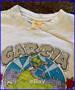 GRATEFUL DEAD VINTAGE SHIRT Garcia On Broadway 1987 2 Sided