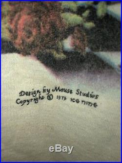 GRATEFUL DEAD VTG T-shirt 1973 Ringer Clown Grim Reaper 70s Jerry Garcia V RARE