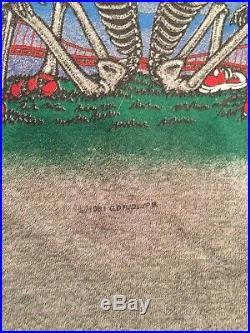 GRATEFUL DEAD Vintage 1982 Tour Concert T-Shirt Jersey BEAUTIFUL! ORIGINAL M-L