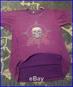 GRATEFUL DEAD Vintage 83 rare Tour Shirt Santa Fe Soft paperthin At Down