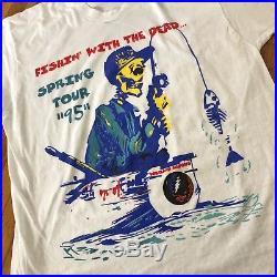 GRATEFUL DEAD Vintage Spring 1995 Tour T Shirt Concert Band Sz L Chuck Berry