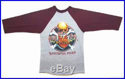 GRATEFUL DEAD Vintage T Shirt 80's CONCERT 1983 TOUR Baseball Jersey ROCK BAND