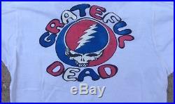 Grateful Dead 1976 John Scher Crew T SHIRT 70s 1970s garcia Summer Tour