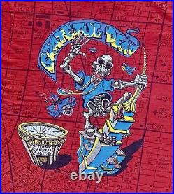 Grateful Dead 1991 MSG NYC King Kong T-shirt All Over Print Vintage Size L