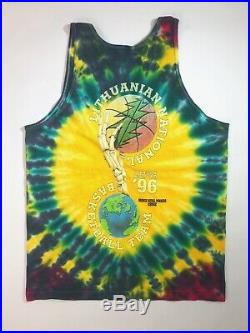 Grateful Dead 1996 Lithuania Basketball Team Tie Dye RARE Tank Top Shirt Sz L 1