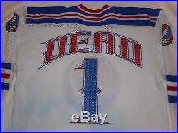 Grateful Dead 1 / ONE HOCKEY JERSEY Shirt LARGE Steal Your Face by 24 Minutes