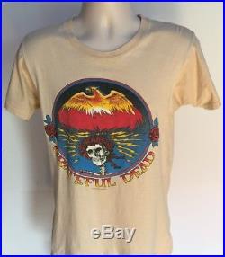 Grateful Dead 70's Vintage T Shirt Graphic Tee 100% Cotton Jerry Garcia RARE