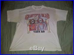 Grateful Dead 89 Spring Tour Vintage Authentic Concert T Shirt SIZE XL USED READ