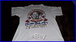 Grateful Dead/Bob Dylan 1987 Tour Shirt X-LARGE