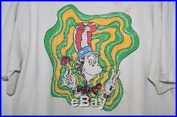 Grateful Dead Cat In The Hat Vintage T-Shirt XL 1990s 90s Acid Dr. Seuss