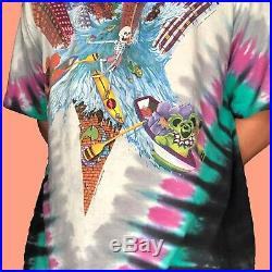 Grateful Dead Chicago Soldier Field 1992 Vintage XL Tye Dye T-shirt