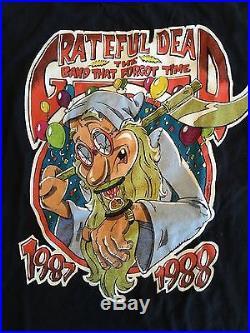 Grateful Dead Crew Owned Concert T-Shirt New Year's 1987 Oakland XL