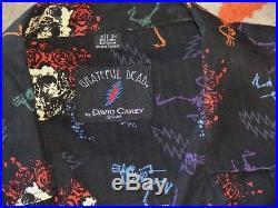 Grateful Dead DAVID CAREY Button Front S/S Shirt 2X Unworn-MINT