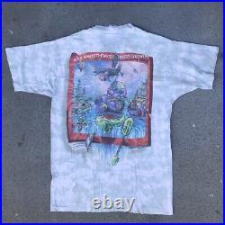 Grateful Dead Deaddie Bear Road Trip 1997 Eddie Bauer Tee Tie Dye Vintage Large