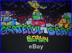 Grateful Dead Europe 1990 Berlin Wall Art Steal Your Face Concert T-shirt-xl-new