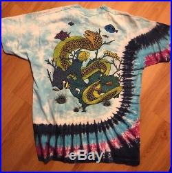 Grateful Dead Jerry Garcia Band Shirt T Shirt Vintage 1991 Ocean Fish Tie Dye XL