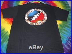 Grateful Dead Lightning Bolt Red Rocks Colorado 1983 Concert T-shirt-new-m-rare